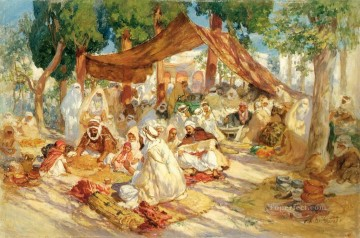 MARKET SCENE Frederick Arthur Bridgman Oil Paintings