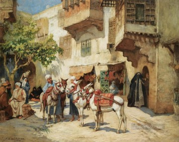 Marketplace in North Africa Frederick Arthur Bridgman Oil Paintings