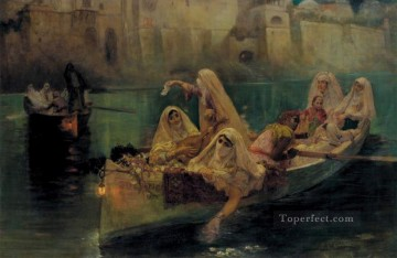 The Harem Boats Frederick Arthur Bridgman Oil Paintings