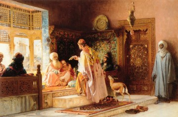 Frederick Arthur Bridgman Painting - The Messenger Frederick Arthur Bridgman