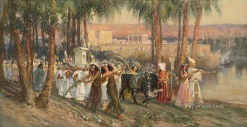 An Egyptian Procession Frederick Arthur Bridgman Oil Paintings