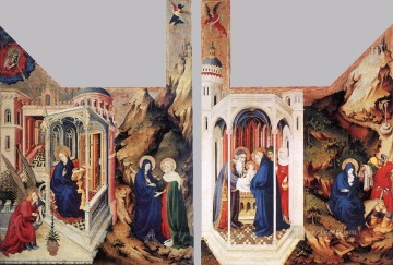 Altarpiece Painting - The Dijon Altarpiece Melchior Broederlam