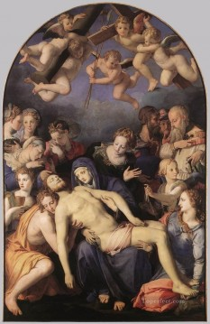 baptism of christ Painting - Deposition of Christ Florence Agnolo Bronzino
