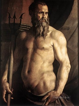 on - Portrait of Andrea Doria as Neptune Florence Agnolo Bronzino