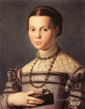 Girl Works - Portrait of a Young Girl Florence Agnolo Bronzino