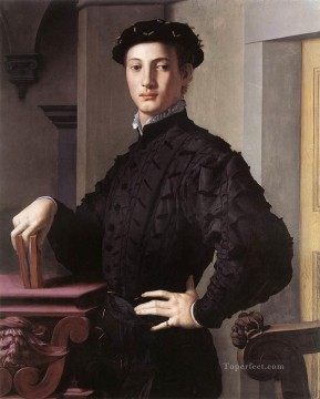Man Works - Portrait of a Young Man Florence Agnolo Bronzino