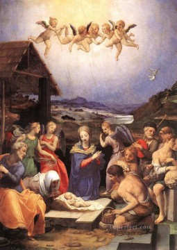 Adoration Art - Adoration of shepherds Florence Agnolo Bronzino