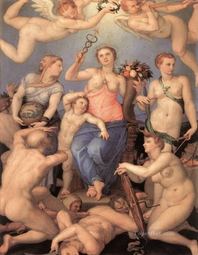 Agnolo Bronzino Painting - Allegory Of Happiness Florence Agnolo Bronzino