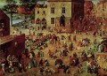 Childrens Games Flemish Renaissance peasant Pieter Bruegel the Elder