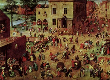 pieter bruegel Painting - Childrens Games Flemish Renaissance peasant Pieter Bruegel the Elder