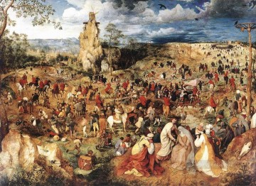Christ Carrying The Cross Flemish Renaissance peasant Pieter Bruegel the Elder Oil Paintings