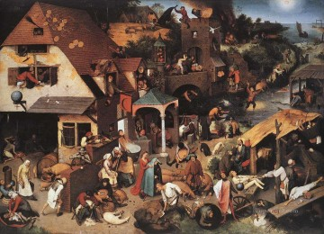 Netherlandish Proverbs Flemish Renaissance peasant Pieter Bruegel the Elder Oil Paintings