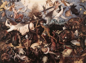 pieter bruegel Painting - The Fall Of The Rebels Angels Flemish Renaissance peasant Pieter Bruegel the Elder