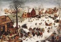 The Numbering At Bethlehem Flemish Renaissance peasant Pieter Bruegel the Elder