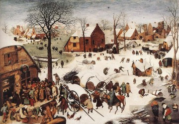 pieter bruegel Painting - The Numbering At Bethlehem Flemish Renaissance peasant Pieter Bruegel the Elder
