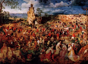 The Procession to Calvary Flemish Renaissance peasant Pieter Bruegel the Elder Oil Paintings