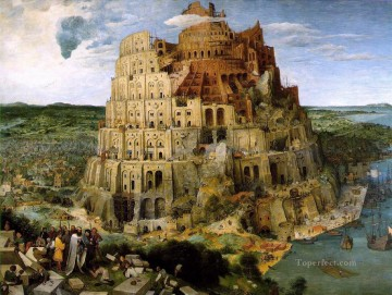 The Tower Of Babel 1563 Flemish Renaissance peasant Pieter Bruegel the Elder Oil Paintings