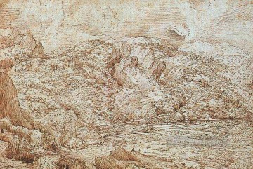 Landscape Art - Landscape Of The Alps Flemish Renaissance peasant Pieter Bruegel the Elder