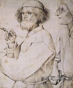 painter Oil Painting - The Painter And The Buyer Flemish Renaissance peasant Pieter Bruegel the Elder