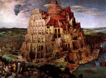 renaissance works - The Tower of Babel Flemish Renaissance peasant Pieter Bruegel the Elder