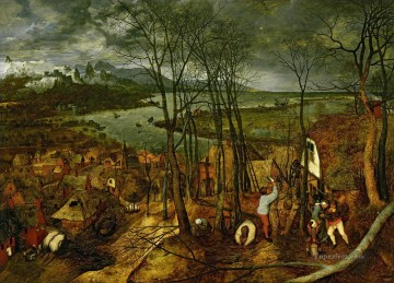 Gloomy Day Flemish Renaissance peasant Pieter Bruegel the Elder Oil Paintings