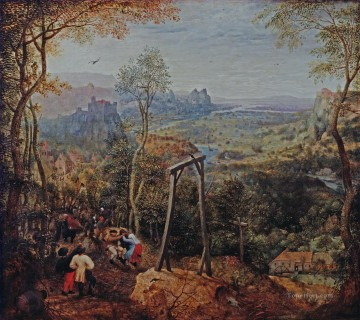 Magpie On The Gallow Flemish Renaissance peasant Pieter Bruegel the Elder Oil Paintings