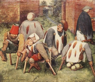 The Beggars Flemish Renaissance peasant Pieter Bruegel the Elder Oil Paintings