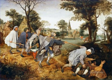 Arab Canvas - The Parable Of The Blind Leading The Blind Flemish Renaissance peasant Pieter Bruegel the Elder