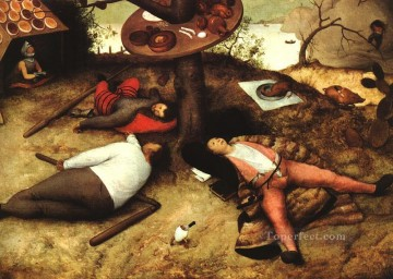 pieter bruegel Painting - The Land Of Cockayne Flemish Renaissance peasant Pieter Bruegel the Elder