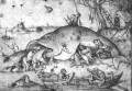 Big Fishes Eat Little Fishes Flemish Renaissance peasant Pieter Bruegel the Elder