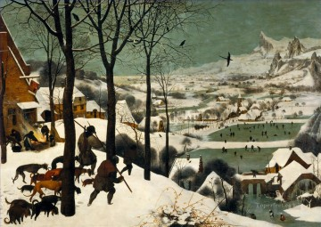 renaissance works - The Hunters In The Snow Flemish Renaissance peasant Pieter Bruegel the Elder