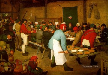 Peasant Wedding Flemish Renaissance peasant Pieter Bruegel the Elder Oil Paintings