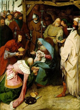 Adoration Art - The Adoration Of The Kings Flemish Renaissance peasant Pieter Bruegel the Elder
