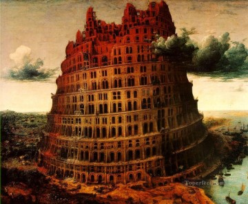The Little Tower Of Babel Flemish Renaissance peasant Pieter Bruegel the Elder Oil Paintings