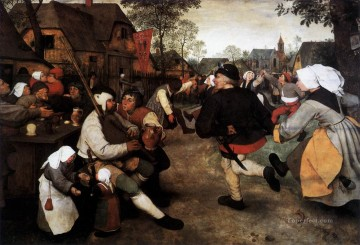 pieter bruegel Painting - The Peasant Dance Flemish Renaissance peasant Pieter Bruegel the Elder