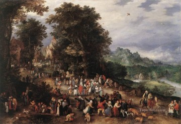 A Flemish Fair Flemish Jan Brueghel the Elder Oil Paintings