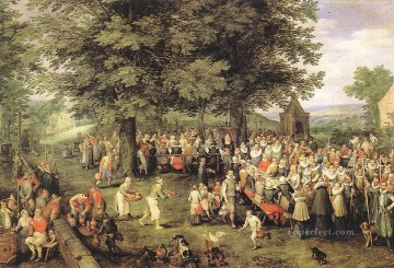 Wedding Banquet Flemish Jan Brueghel the Elder Oil Paintings