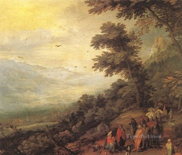 Gathering Of Gypsies In The Wood Flemish Jan Brueghel the Elder Oil Paintings