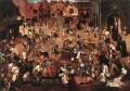 Battle Of Carnival And Lent peasant genre Pieter Brueghel the Younger