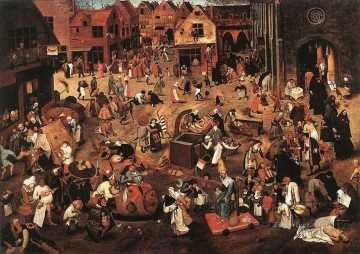 carnival Art - Battle Of Carnival And Lent peasant genre Pieter Brueghel the Younger