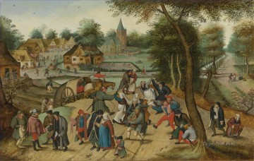 pieter bruegel Painting - RETURN FROM THE KERMESSE Pieter Brueghel the Younger