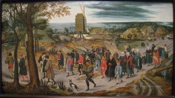 pieter bruegel Painting - The Marriage Procession Pieter Brueghel the Younger