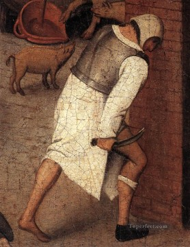 young Art - Proverbs 4 peasant genre Pieter Brueghel the Younger