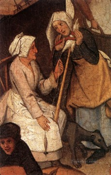 young Art - Proverbs 3 peasant genre Pieter Brueghel the Younger