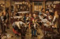 The tax collector office Pieter Brueghel the Younger