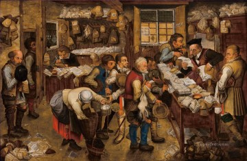 pieter bruegel Painting - The tax collector office Pieter Brueghel the Younger