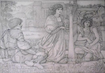 drawing Oil Painting - Chant dAmour drawing PreRaphaelite Sir Edward Burne Jones