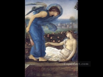 Cupid Works - Cupid Finding Psyche PreRaphaelite Sir Edward Burne Jones