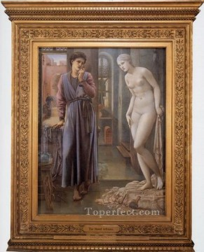 Hand Canvas - Pygmalion and the Image II The Hand Refrains PreRaphaelite Sir Edward Burne Jones