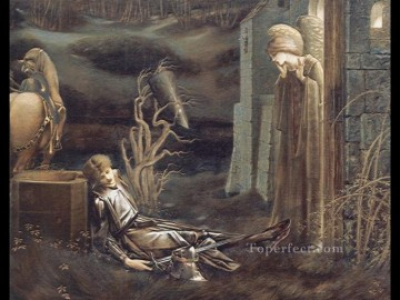 sistine chapel Painting - The Dream of Launcelot at the Chapel of the San Graal PreRaphaelite Sir Edward Burne Jones